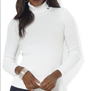 Ralph Lauren white turtle neck sweater